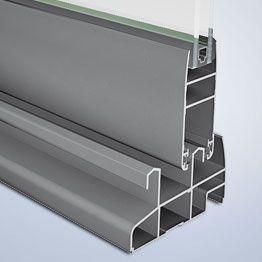 DOMO 80 - Sistema de corredera con posibilidad de corte perimetral o corte a testa
