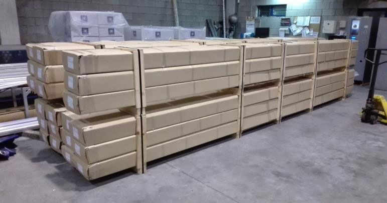 Perfiles de aluminio para la industria: embalaje personalizado