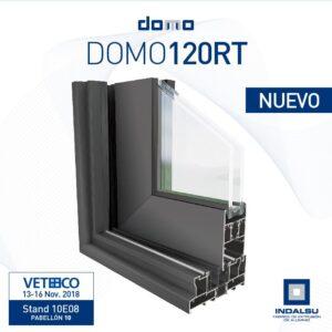 Sistema de ventana corredera en aluminio DOMO 120RT