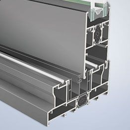 Sistema de ventana corredera en aluminio Domo 120RT de INDALSU